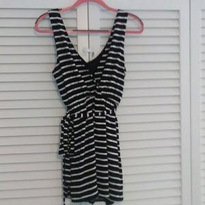 Pink Blush Maternity Striped Shash Belt Dress